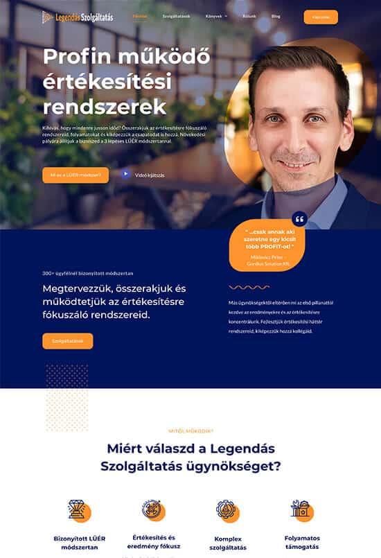 Legendás Szolgáltatás Kft - Berka László - weblapmentor weboldal készítés portfolió-utána