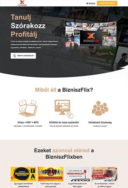 BizniszFlix - Pongor-Juhász Attila-weblapmentor-weboldal-készítés-portfolió