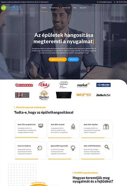 Épülethangosítás - For Rest Kft-weblapmentor-weboldal-készítés-portfolió