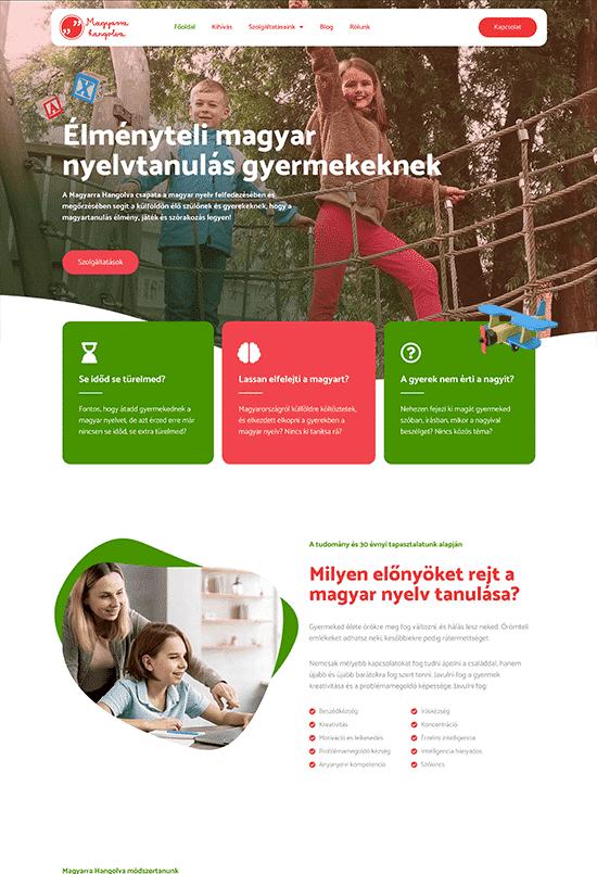 Magyarra Hangolva - Dóczi Ilona - weblapmentor weboldal készítés portfolió