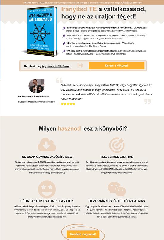 Pongor Publishing Kft - Pongor-Juhász Attila - weblapmentor Vedd kezedbe a vállalkozásod könyv értékesítési oldal készítés portfolió